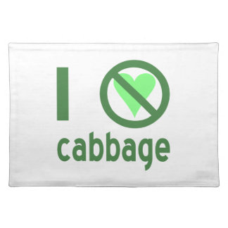I Hate Cabbage Cloth Placemat