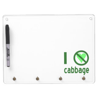 I Hate Cabbage Dry Erase Board With Keychain Holder