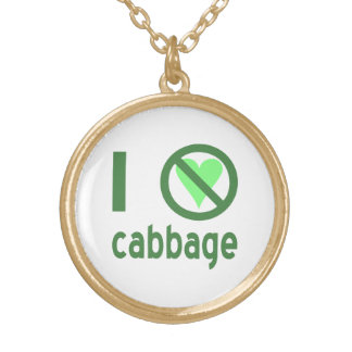 I Hate Cabbage Gold Plated Necklace