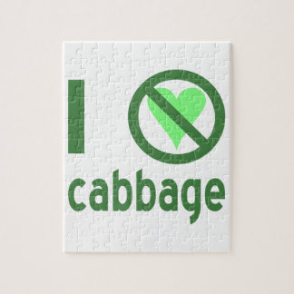 I Hate Cabbage Jigsaw Puzzle