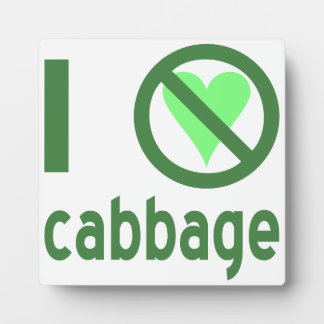 I Hate Cabbage Photo Plaques