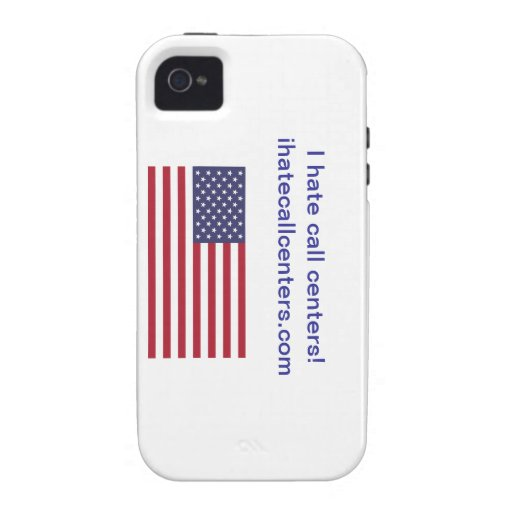 I hate call centers! Gifts iPhone 4 Case