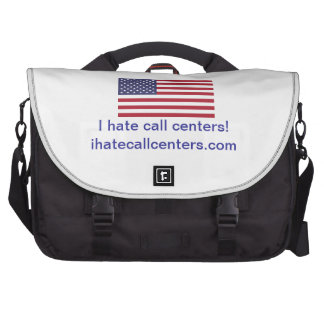 I hate call centers Gifts Commuter Bags
