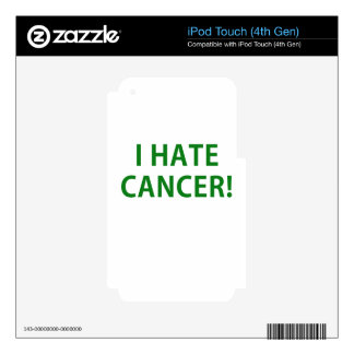 I Hate Cancer Decals For iPod Touch 4G