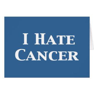I Hate Cancer Gifts Card