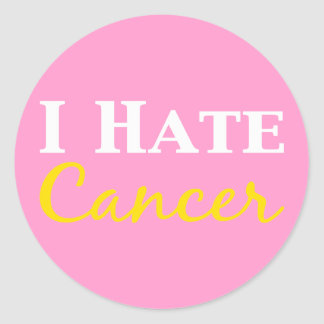 I Hate Cancer Gifts Classic Round Sticker
