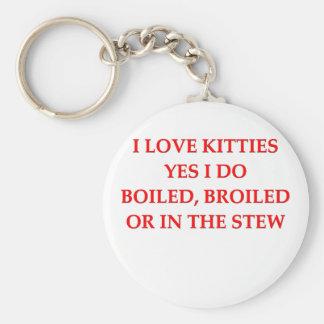 i hate cats key chain