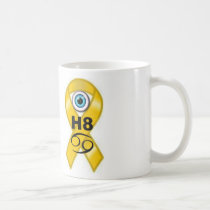 i hate childood cancer mug