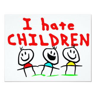 I hate children! card