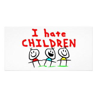 I hate children! photo cards