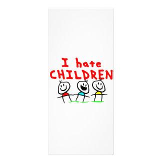 I hate children! rack card