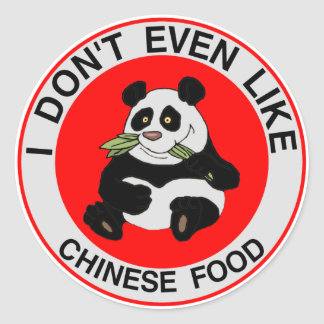 I Hate Chinese Food Classic Round Sticker