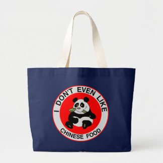 I Hate Chinese Food Large Tote Bag