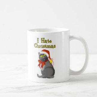 I Hate Christmas Cat Coffee Mug
