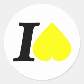 I hate classic round sticker