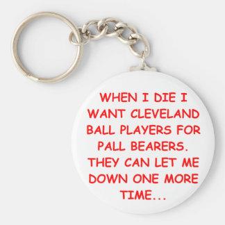 i hate cleveland basic round button keychain
