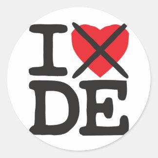 I Hate DE - Delaware Classic Round Sticker