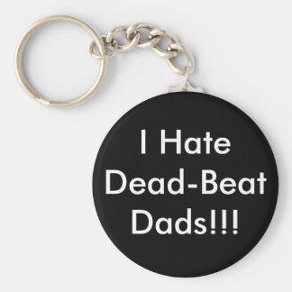 I Hate Dead-Beat Dads!!! Basic Round Button Keychain