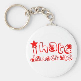 I Hate Democrats Basic Round Button Keychain