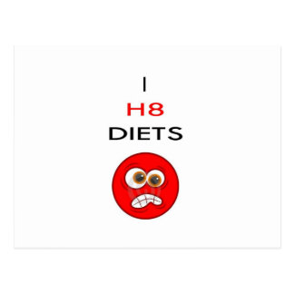 I hate diets postcard