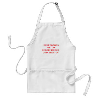 i hate dogs adult apron