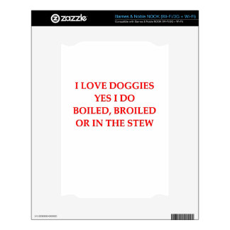 i hate dogs decal for NOOK