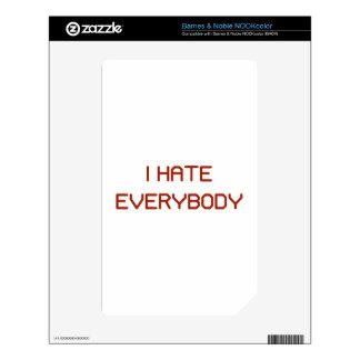 I Hate Everybody NOOK Color Skin