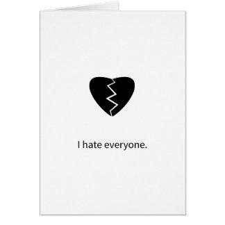 I hate everyone cards