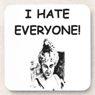 i hate everyone beverage coasters