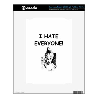 i hate everyone decal for NOOK