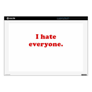I Hate Everyone Laptop Decal