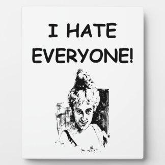 i hate everyone photo plaques