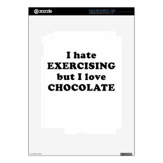 I Hate Exercising but I Love Chocolate iPad 2 Skins
