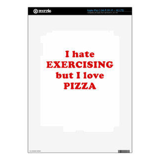I Hate Exercising but I Love Pizza iPad 3 Decal