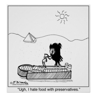 I Hate Food With Preservatives Poster