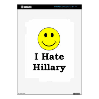 I Hate Hillary  happy smiley face Decal For iPad 3