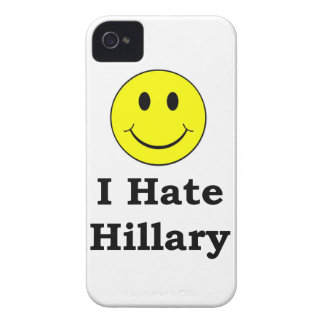I Hate Hillary  happy smiley face iPhone 4 Cover