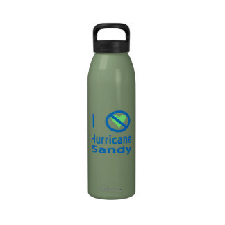 I Hate Hurricane Sandy Water Bottle