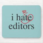 I hate/iheart editors mouse pad