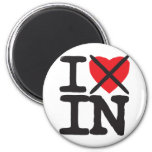 I Hate IN - Indiana 2 Inch Round Magnet