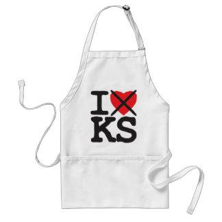 I Hate KS - Kansas Adult Apron