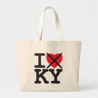 I Hate KY - Kentucky Large Tote Bag