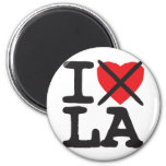 I Hate LA - Louisiana 2 Inch Round Magnet