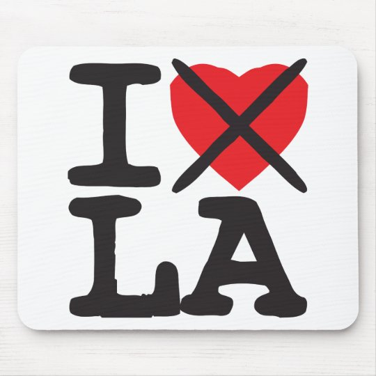 I Hate LA - Louisiana Mouse Pad