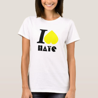 """I hate"" Ladies Baby Doll (Fitted) Template T-Shirt"