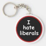 I Hate Liberals Basic Round Button Keychain