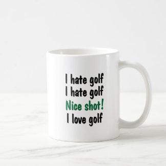 I Hate - Love Golf Classic White Coffee Mug