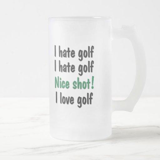 I Hate - Love Golf Mug
