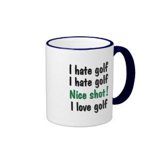 I Hate - Love Golf Ringer Coffee Mug