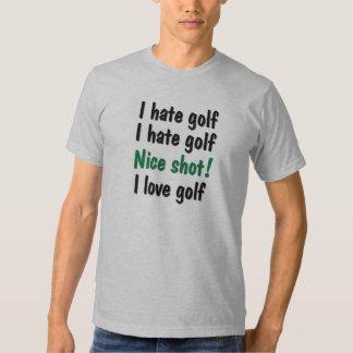 I Hate - Love Golf T Shirt